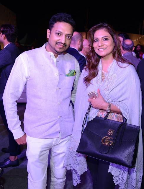Designer Varun Bahl and Kalyani Chawla