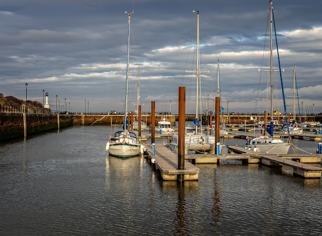 Photo of sunshine and cloud at Maryport Marina on Wednesday