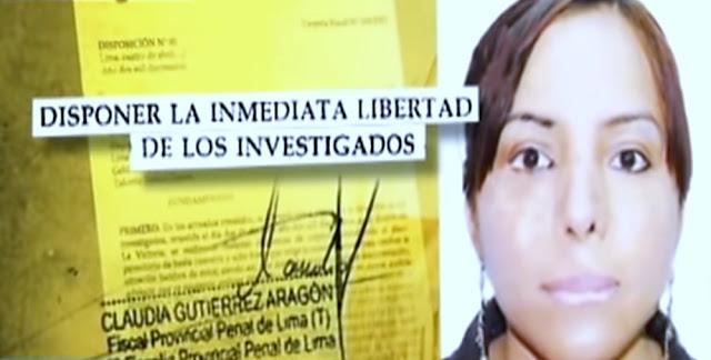 Fiscal provincial penal de Lima, Claudia Gutiérez Aragón