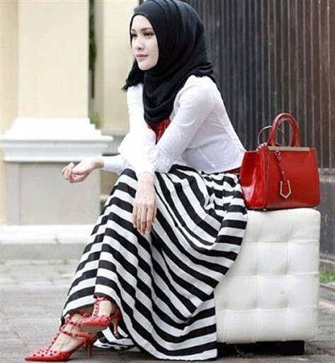 Trend Model Busana Hijab Casual Remaja Terbaru 2017/2018