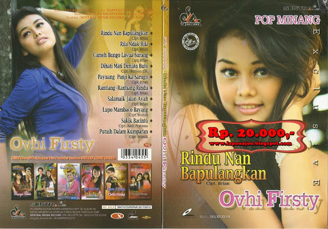 Ovhi Firsty - Rindu Nan Bapulangkan (Album Pop Minang Exclusive)