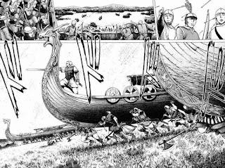 Viñeta del manga Vinland Saga.