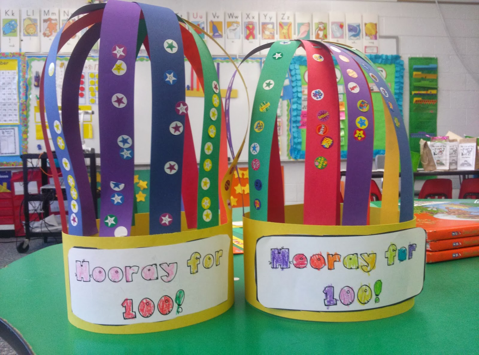 First grade is a treat 100th day and rainbows for 100th day hat template