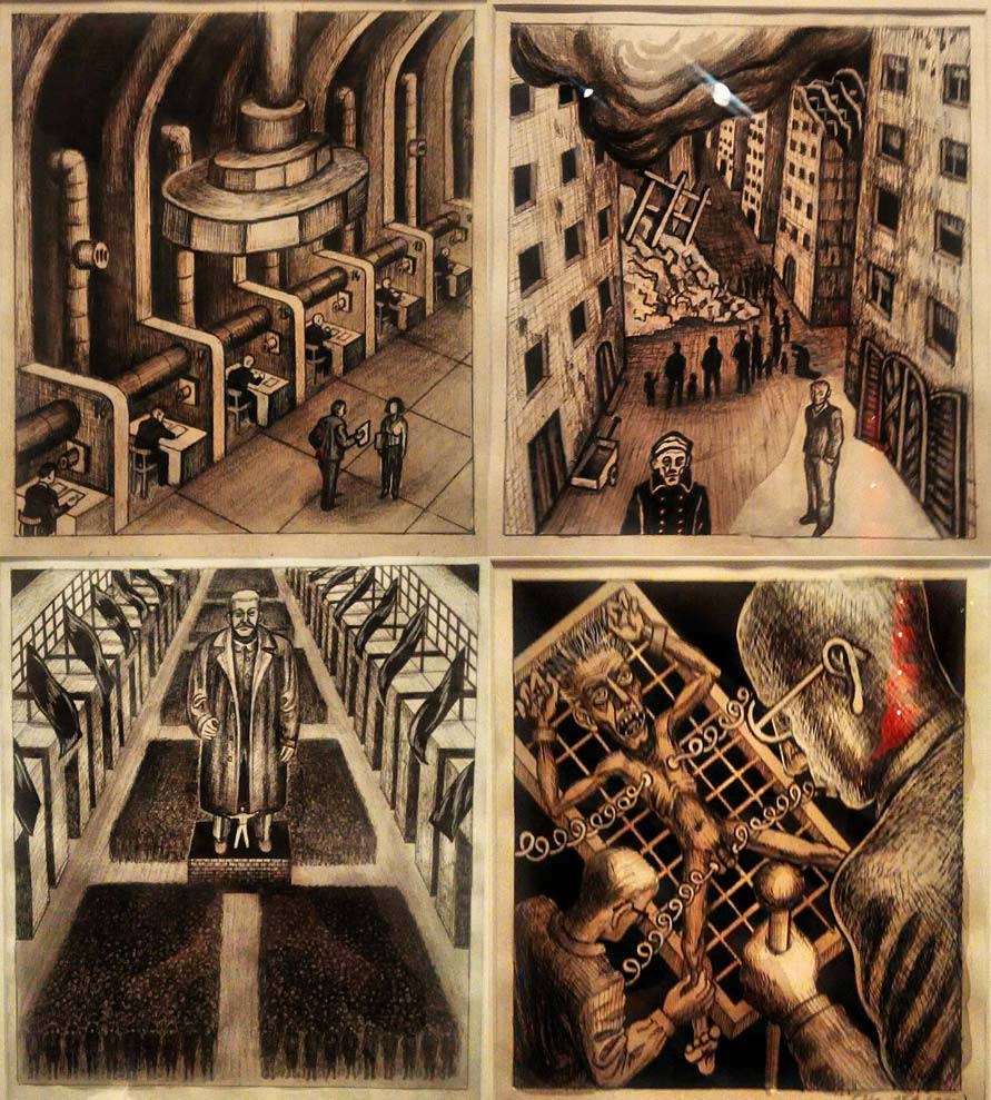 Jaroslav Róna ilustrații 1984 de Orwell