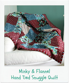 Hand Tied Snuggle Quilt Pattern by www.madebyChrissieD.com