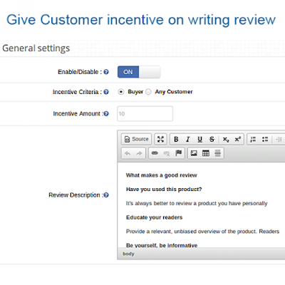 Customization of OpenCart Review Incentive Module | Knowband