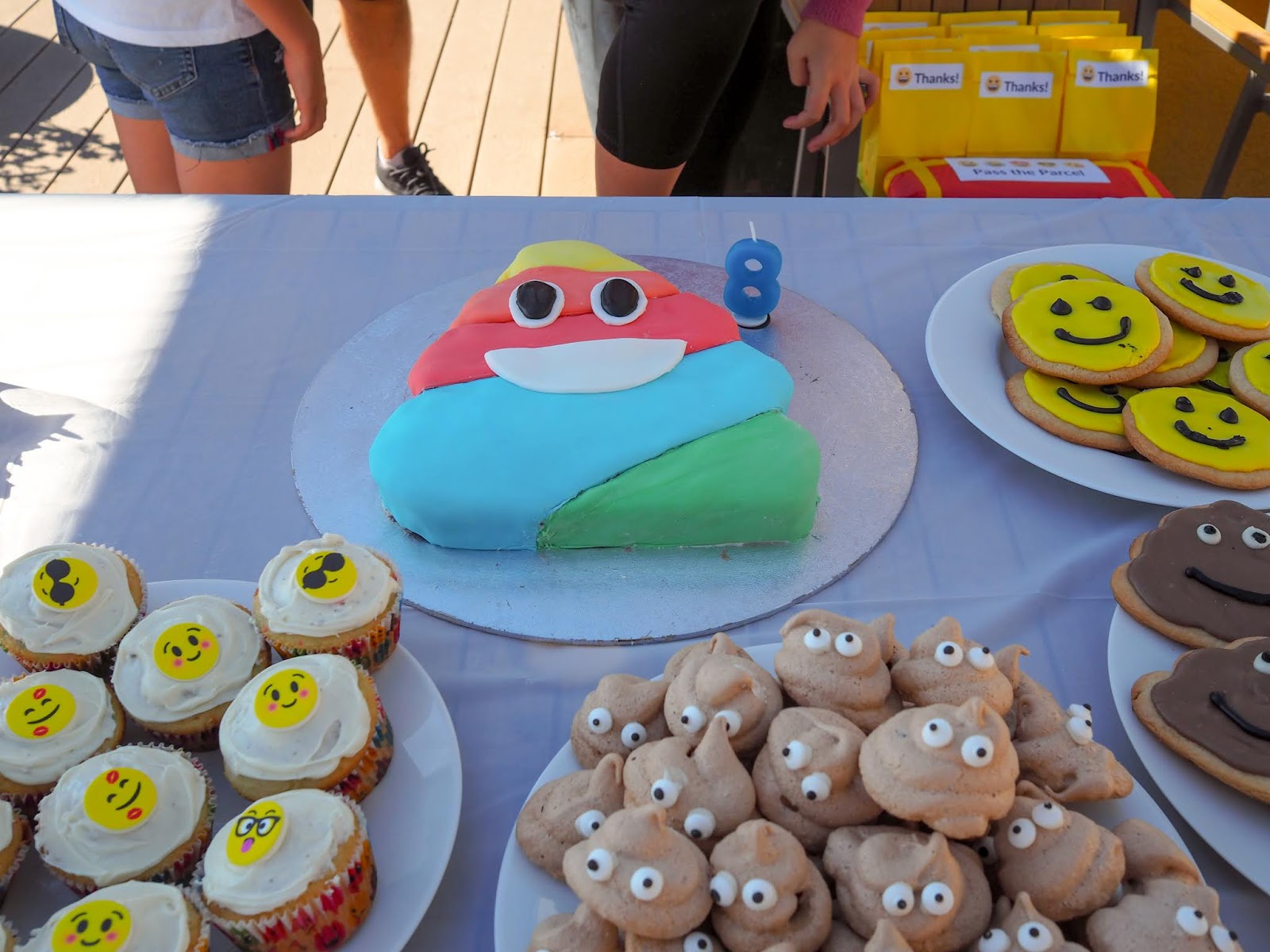 Poop Emoji Birthday Cake We Had An Face Pinata Themed Gifts In The Party Bags And Pass Parcel Girls Wore T Shirts