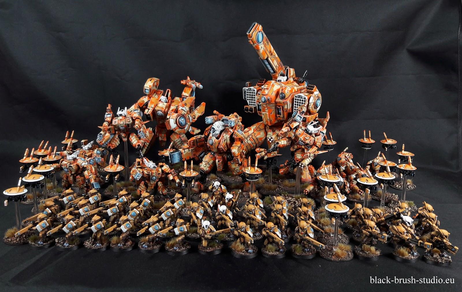T'au Empire - Army in orange camo