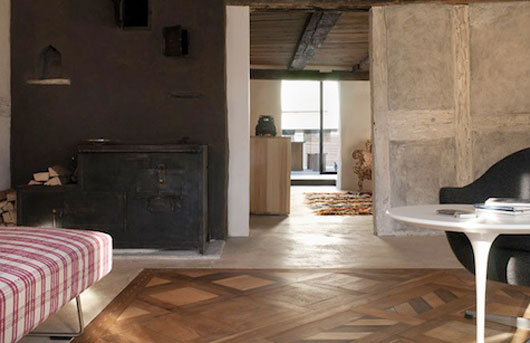 ihomee: Swiss Modern Apartment Design with Rustic Style by