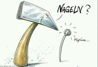 Liebe witzig Frauen Ausrede Migräne Spass Comic Bilder