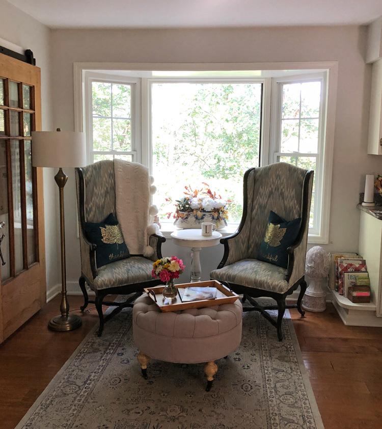 cozy sitting area