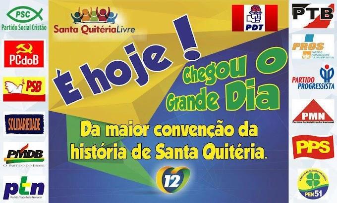 SANTA QUITÉRIA LIVRE! Convenção oficializará nome de Roberto Rocha a candidato a Prefeito