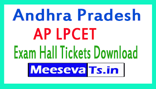 Andhra Pradesh AP LPCET Exam Hall Tickets Download 2018