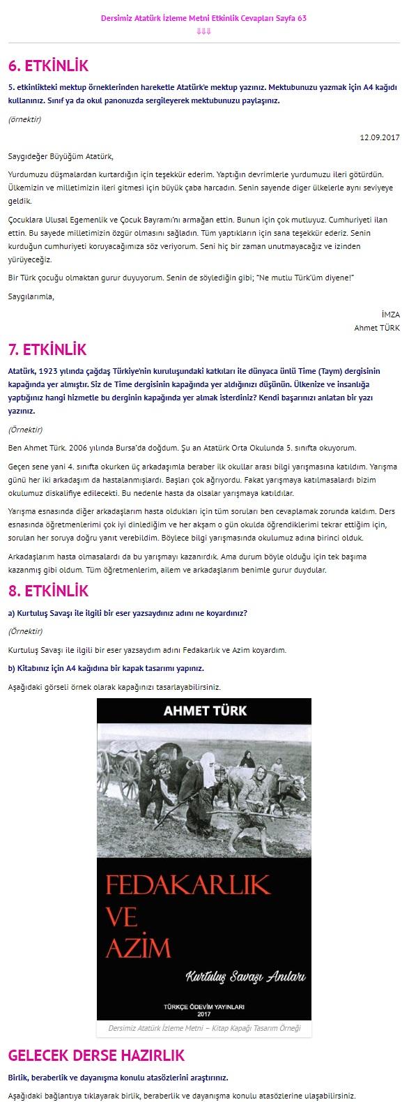 Dersimiz Atatürk Dinleme İzleme sayfa 63