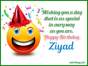 Happy Birthday Ziyad