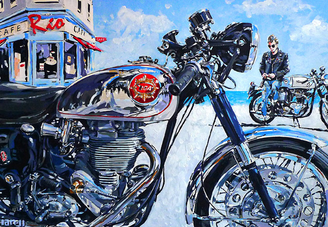 Racing Caf 232 Motorcycle Art Ian Cater