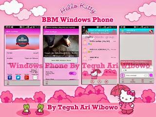 BBM Mod Hello Kitty Apk v3.0.0.18 Terbaru