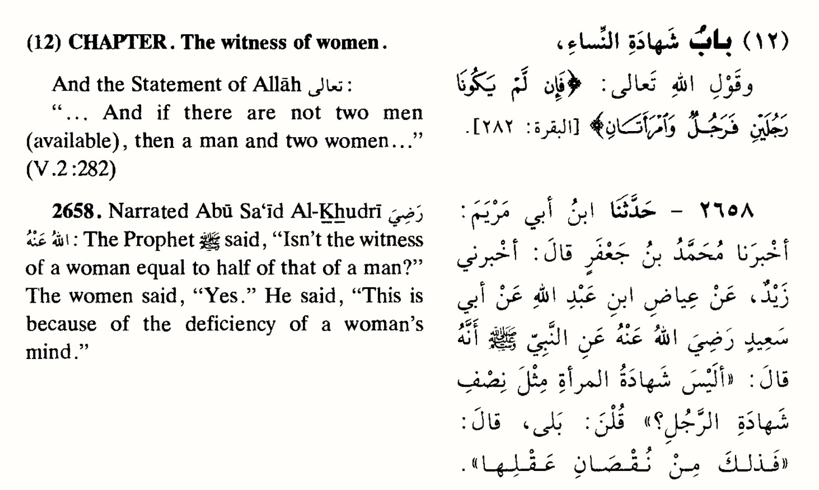 Hadith quotes on homosexuality