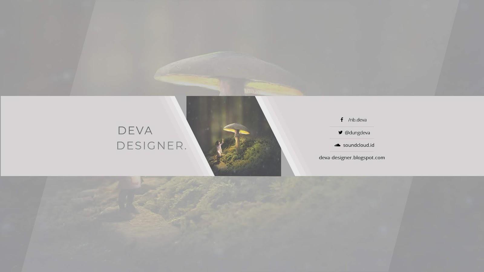 [PSD] 2 MẪU COVER YOUTUBE CỰC CHẤT | DEVA