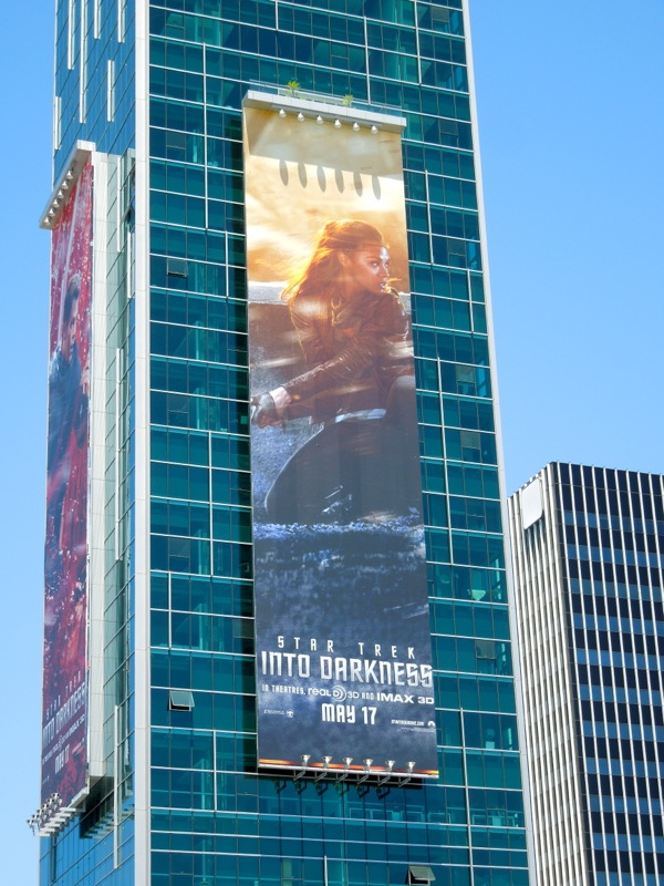 Zoe Saldana Star Trek Into Darkness billboard
