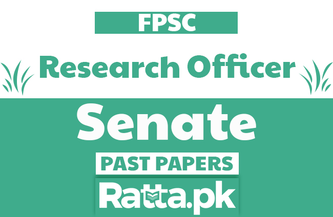 FPSC Research Officer in Senate Past Papers solved pdf