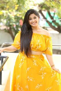 Chandni Bhagwanani Photos in Yellow Dress