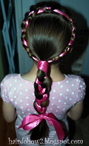 Hairdo How-to: Lesson 91: Ribbon Accented Braid Wreath