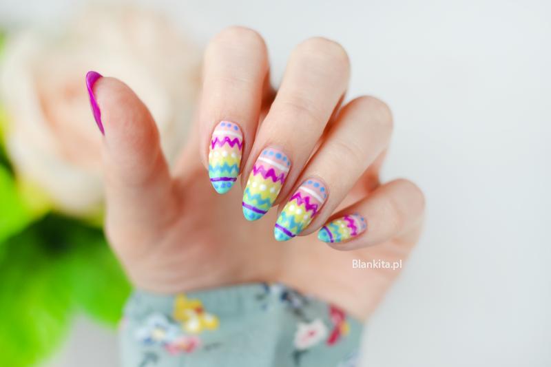 wielkanocne paznokcie, pisanki na paznokciach, paznokcie na swieta, swiateczne paznokcie