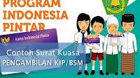 Contoh Surat Kuasa Pengambilan KIP/BSM Madrasah Tahun 2018