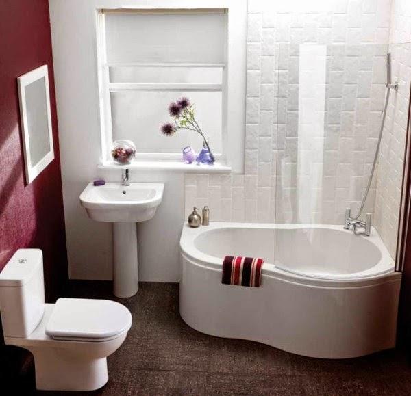 Gambar kamar mandi sederhana yang romantis dan nyaman