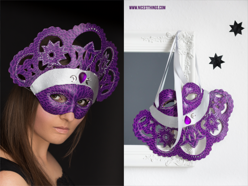 Decopatch Maske: DIY venezianische Masken selbermachen
