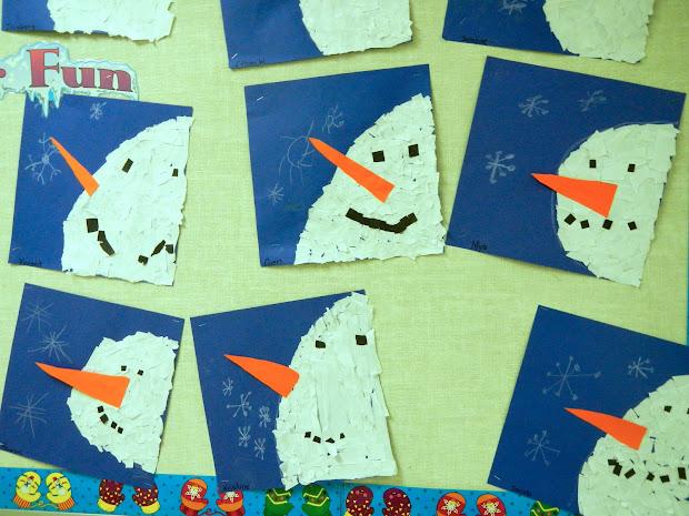 Artist Woman Make Snowman Banner