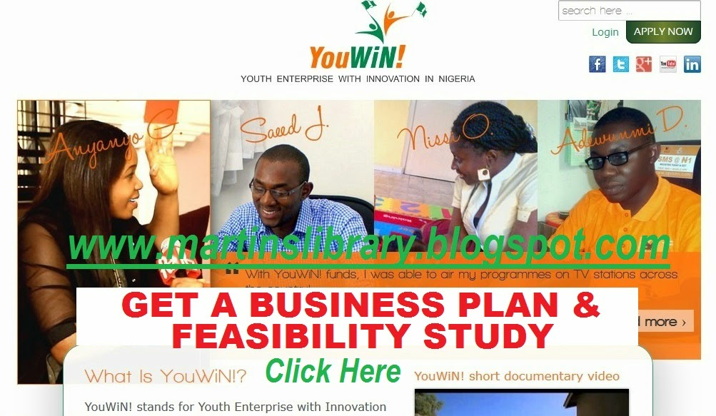 GET FEASIBILITY STUDY AND BUSINESS PLAN FROM MARTINS LIBRARY
