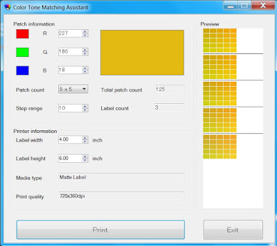Epson Color Tone Matching Assistant