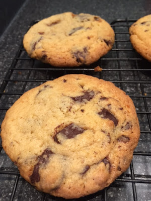 American Style Chocolate Chip Cookies on a cooling rack