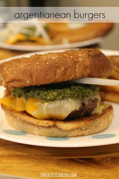 Argentinean Burgers #recipe #burgers #beef #chimchurri