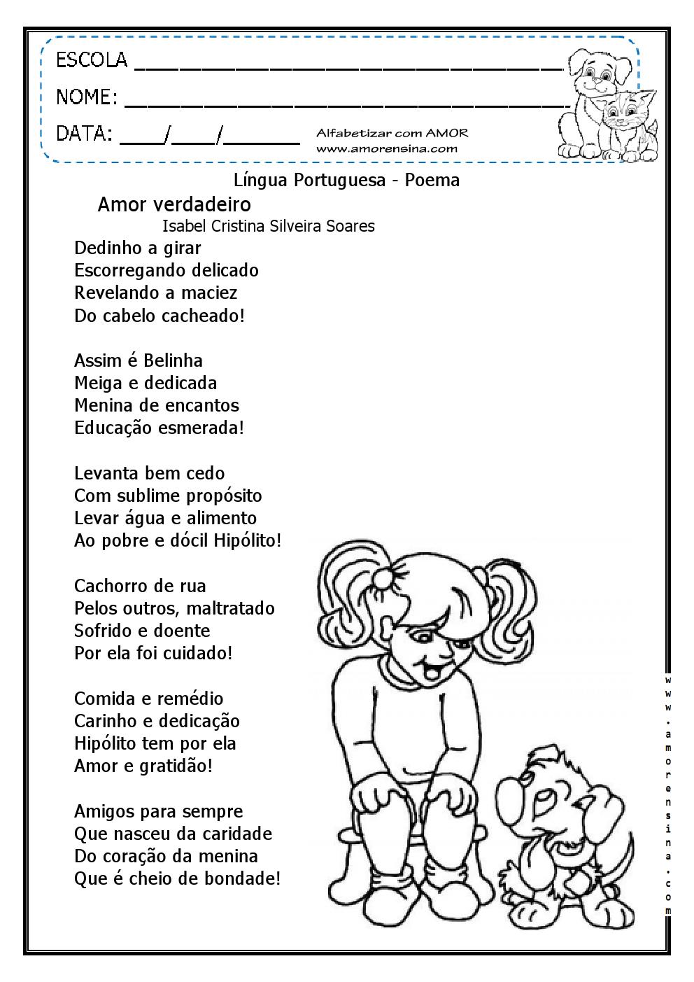 Well-known AMOR AOS ANIMAIS - TEXTO E ATIVIDADES/ 4º ANO/ 5º ANO  ZD96