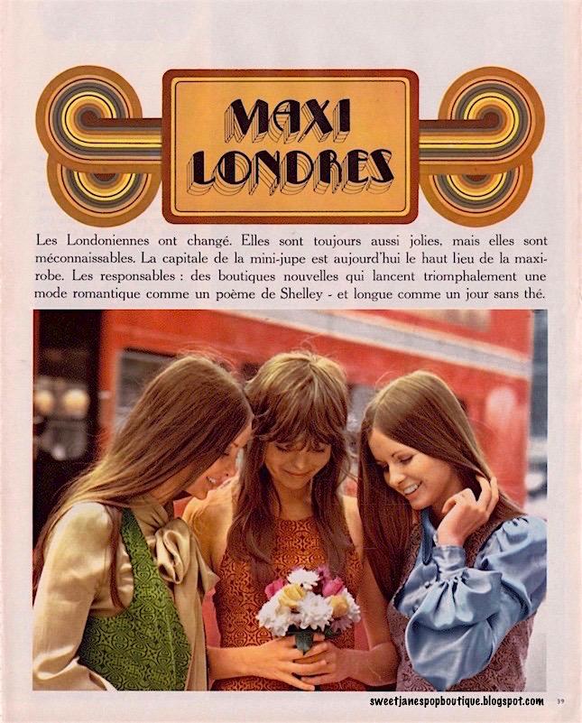 Biba London 1970s fashion Maxi Dress