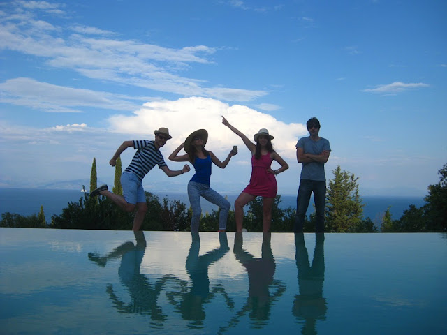 Friends on holiday in Corfu, Greece