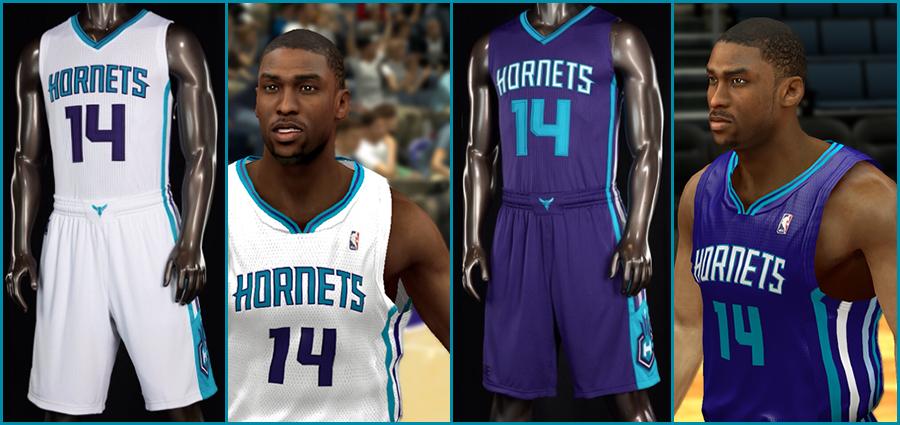 751a3fcc59e NBA 2K14 Charlotte Hornets 2014-15 Jersey Patch