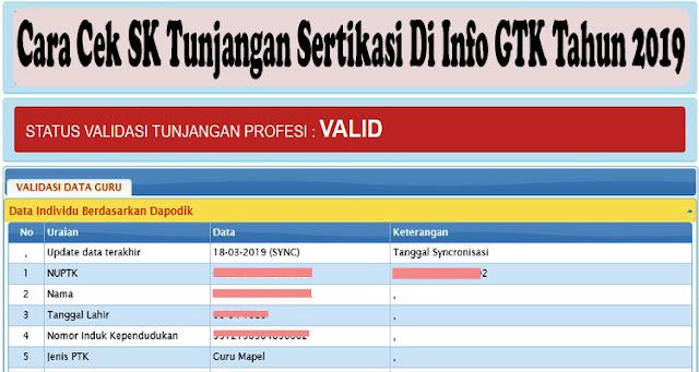 Cara Cek SK Tunjangan Sertikasi Di Info GTK Tahun 2019