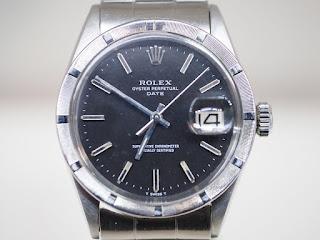 ロレックス 1501 パーペチュアルデイト 自動巻き腕時計 黒文字板を買い取りました