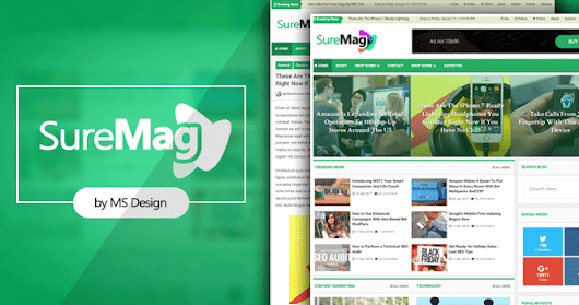 Sure Mag Professional Magazine Blogger Template