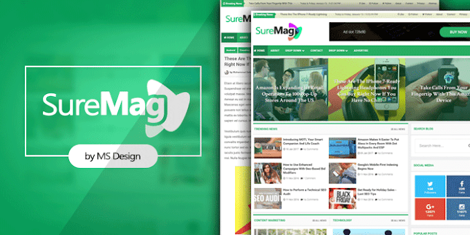 Sure Mag Professional Magazine Blogger Template | Premium Download