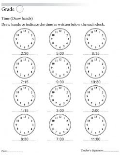 what time is it worksheet ks1
