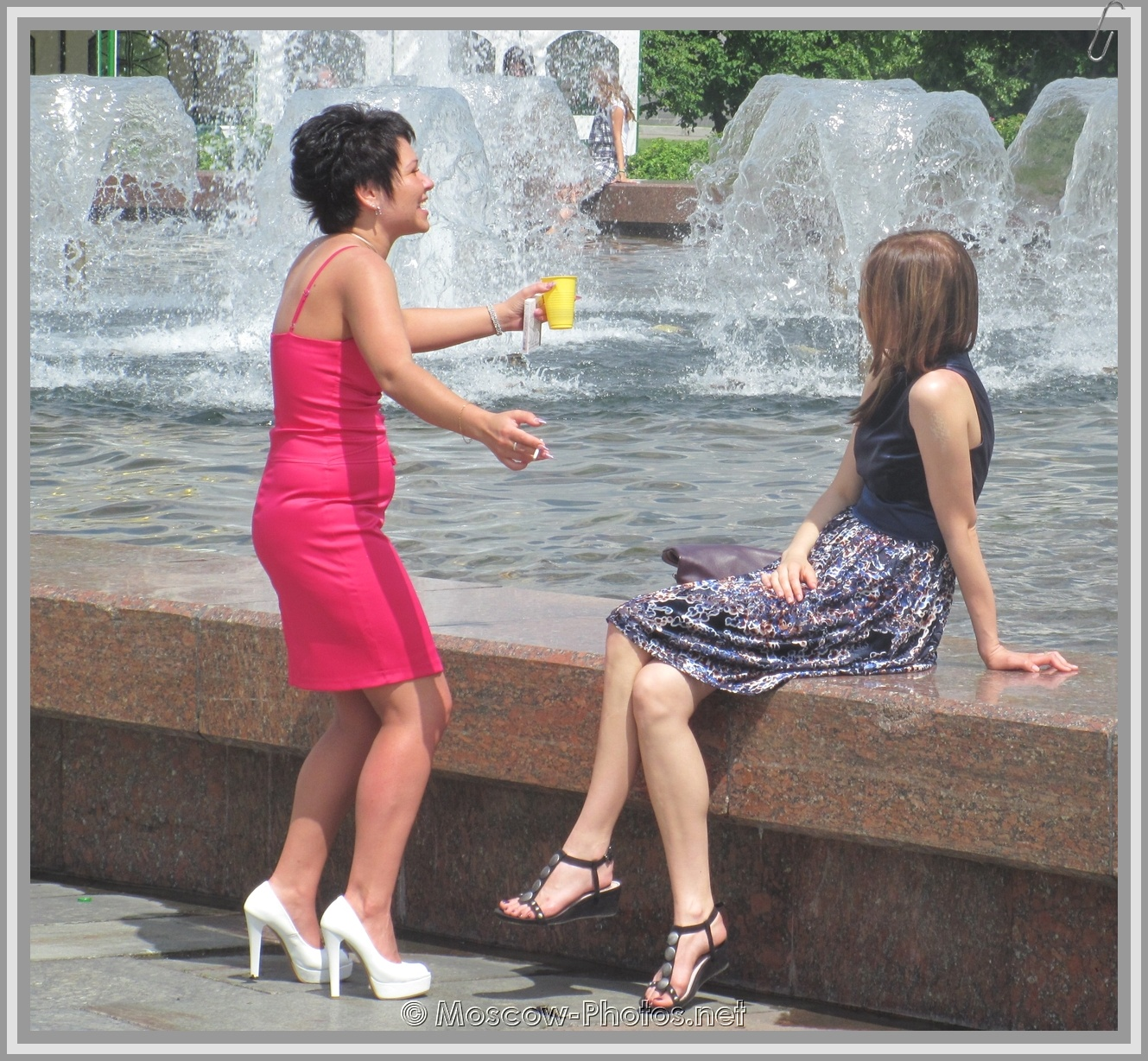 Fountains and Hot Moscow Summer