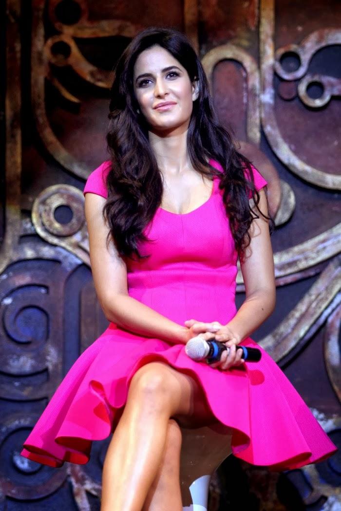 Tamilcinestuff   Katrina Kaif Hot Photos In Pink Short -8536