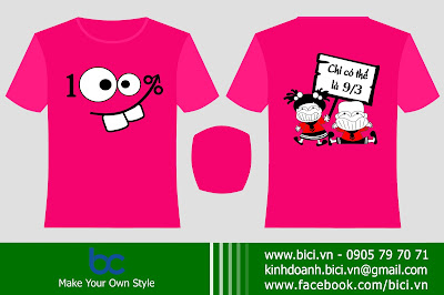 mẫu áo lớp màu hồng