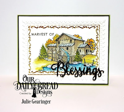 Our Daily Bread Designs Stamp/Die Duos: Many Blessings, Stamp Sest: Living Water, Our Daily Bread Designs Custom Dies: Lavish Layers, Rectangles, Flourished Star Pattern, Our Daily Bread Designs Paper Collection: Christmas 2015