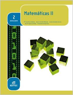 Libro Matemáticas II 2º Bachillerato Editex (LOMCE)